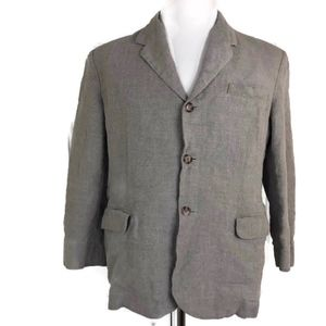 J. Crew Men's Beige 100% Linen Three Button Blazer